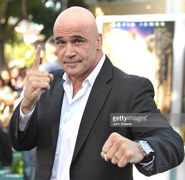 Bas Rutten arrives to the Zookeeper Los Angeles Premiere at Regency Village Theatre on July 6 2011 in Westwood California