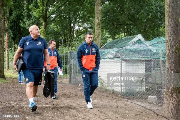 Bas van Noortwijk Jean Paul van Gastel coach Giovanni van Bronckhorst during the friendly match between SDC Putten and Feyenoord Rotterdam at...