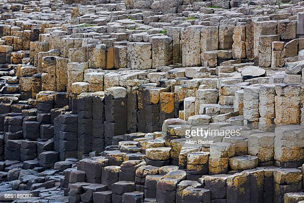 Basalt columns in Unesco's Giant Causeway