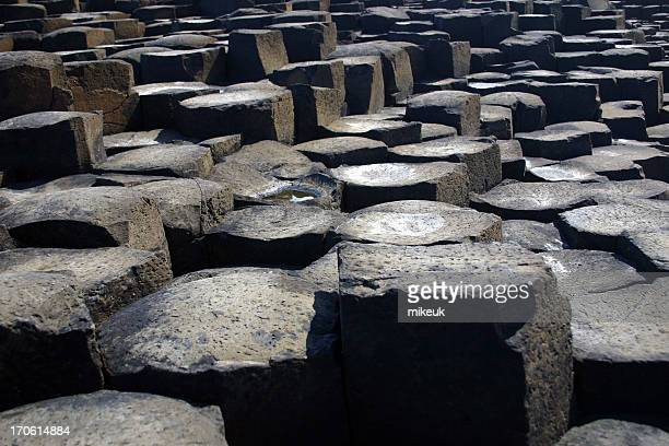 basalt lava columns, Giants causeway, Ireland