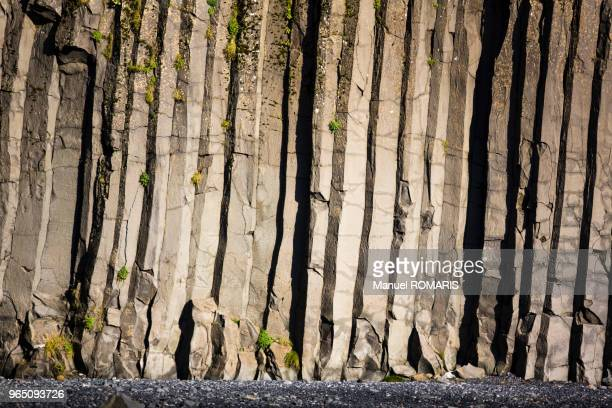 basaltic formation in vik, iceland - basalt stock pictures, royalty-free photos & images