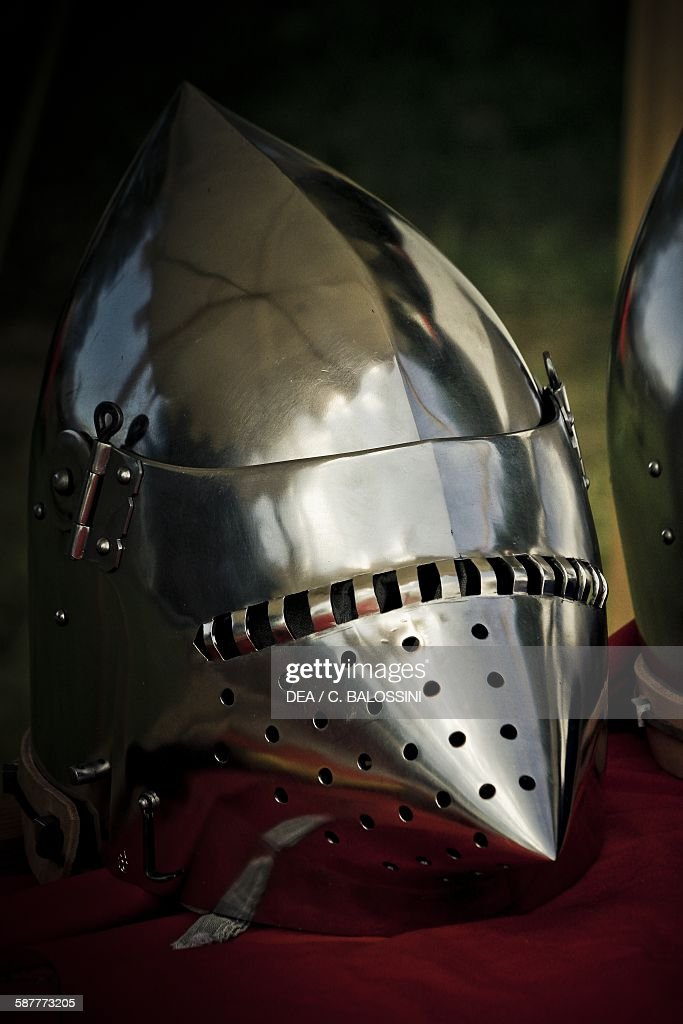 Bascinet, helmet worn by knights in battle, 15th century