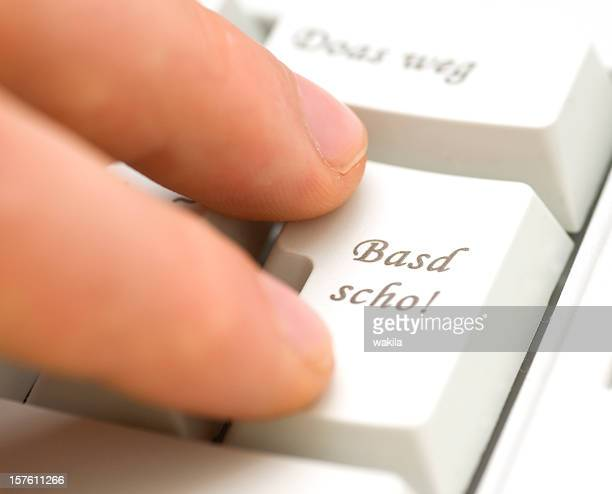 basd scho - bayerische tastatur entertaste - global entry stock pictures, royalty-free photos & images