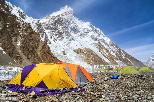 k2 base camp, central karakoram national park, gilgit-baltistan, pakistan - k2 mountain stock pictures, royalty-free photos & images