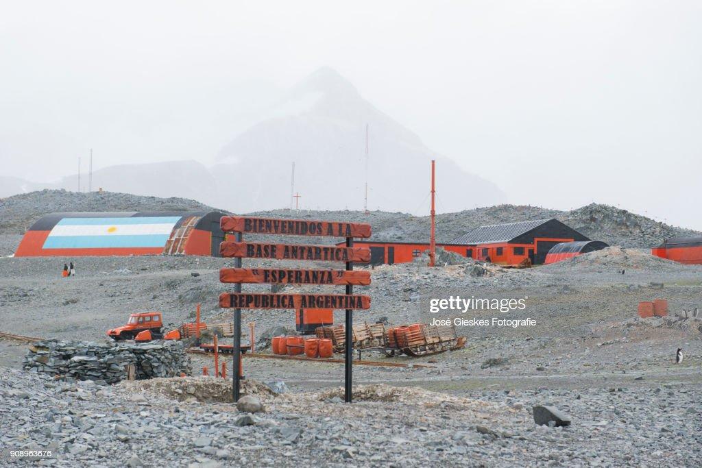 Base Esperanza Antarctica : Stock Photo
