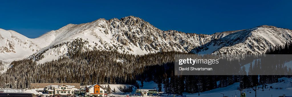 Base of Arapahoe Basin Ski Area : Stock Photo