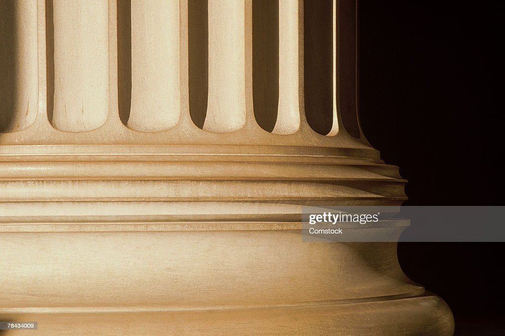 Base of column at courthouse : Stockfoto
