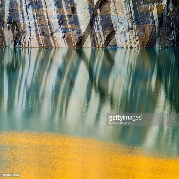 base of the towers reflections - rock strata stock pictures, royalty-free photos & images