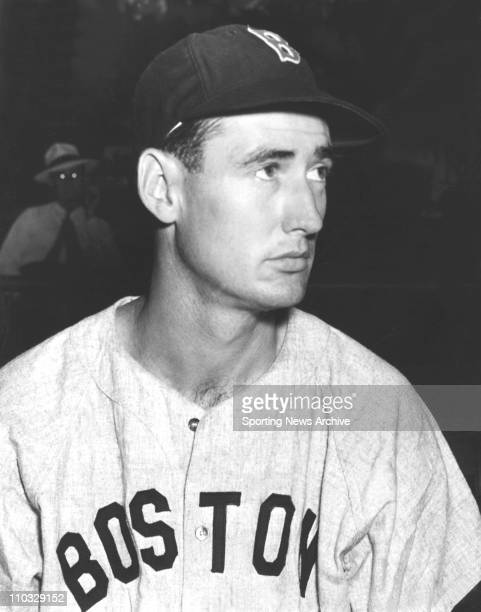 Date Unknown MLB Baseball A headshot of Boston Red Sox outfielder Ted Williams