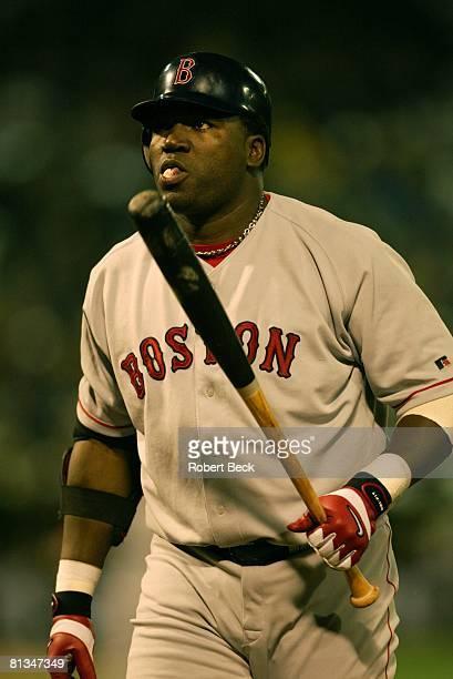Baseball AL playoffs Closeup of Boston Red Sox David Ortiz during game vs Oakland Athletics Oakland CA 10/1/2003