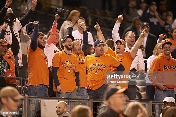 AL Wild Card Game Houston Astros fans in stands during game vs New York Yankees at Yankee Stadium Bronx NY CREDIT Chuck Solomon
