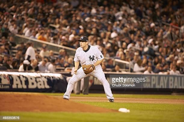 AL Wild Card Game New York Yankees Chase Headley fielding during game vs Houston Astros at Yankee Stadium Bronx NY CREDIT Chuck Solomon