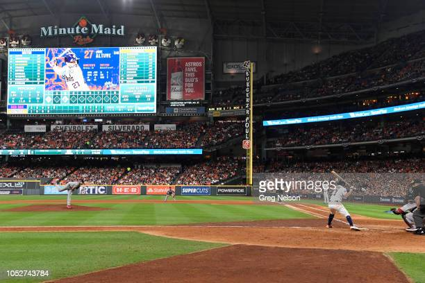 Houston Astros Jose Altuve in action at bat vs Boston Red Sox at Minute Maid Park Game 3 Houston TX CREDIT Greg Nelson