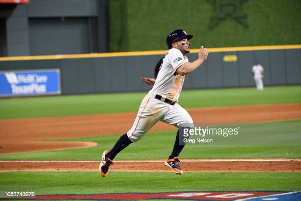 Houston Astros Jose Altuve in action running bases vs Boston Red Sox at Minute Maid Park Game 3 Houston TX CREDIT Greg Nelson