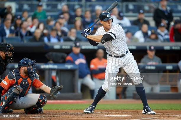 ALCS Playoffs New York Yankees Aaron Judge in action at bat vs Houston Astros at Yankee Stadium Game 4 Bronx NY CREDIT Erick W Rasco