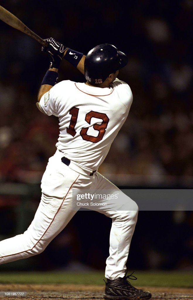 huge discount 0f914 2ad6f Boston Red Sox John Valentin in action, at bat vs Cleveland ...