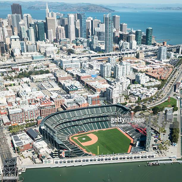 baseball at&t park stadium of san francisco - giants stock photos and pictures