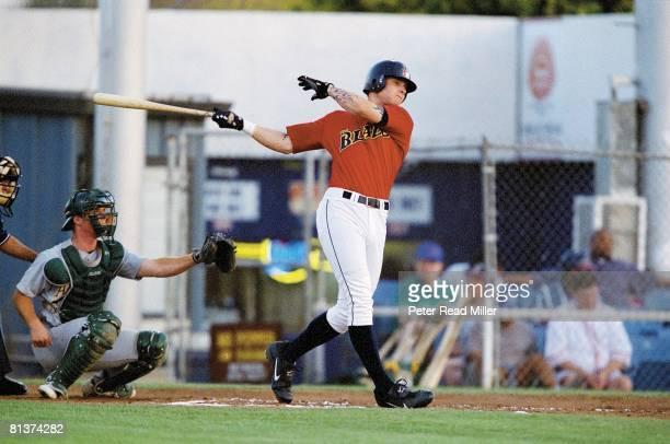 Baseball: Bakersfield Blaze's Josh Hamilton in action, Bakersfield, CA 6/13/2002