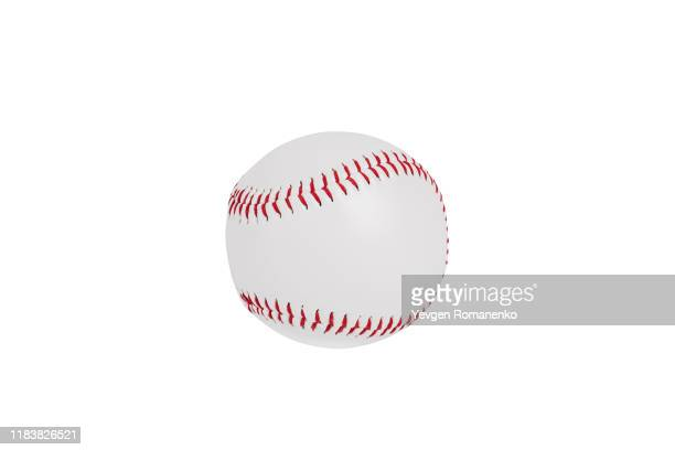 baseball ball isolated on white background with clipping path - baseball stock pictures, royalty-free photos & images