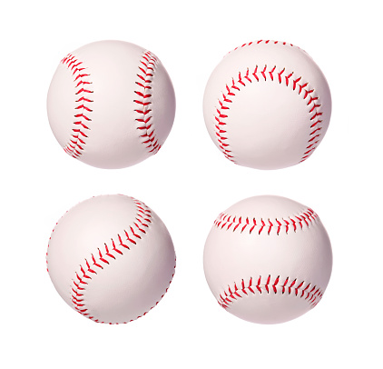 Baseball Balls Collection isolated on white background 516780557