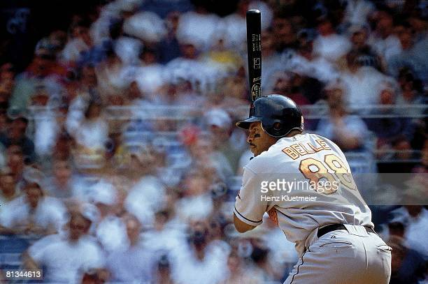 Baseball Baltimore Orioles Albert Belle in action at bat vs New York Yankees Bronx NY 5/7/2000