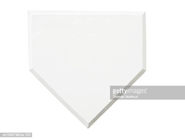 Baseball base on white background