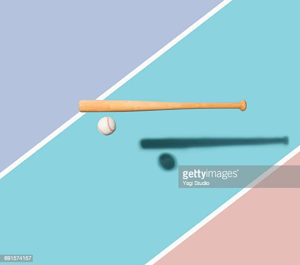 Baseball bat and Baseball Ball