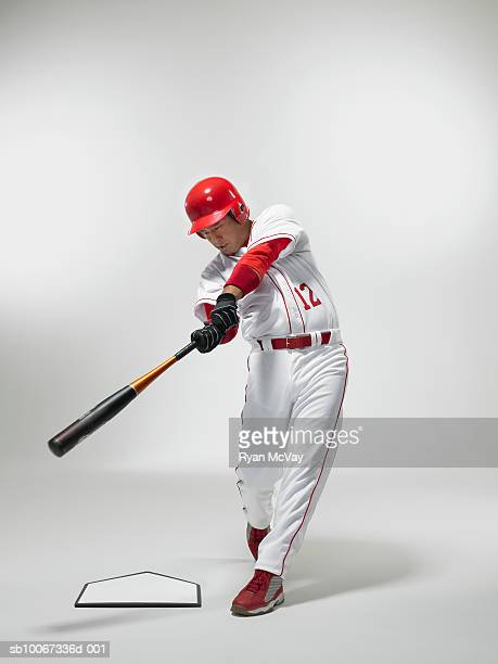 Baseball batter, studio shot