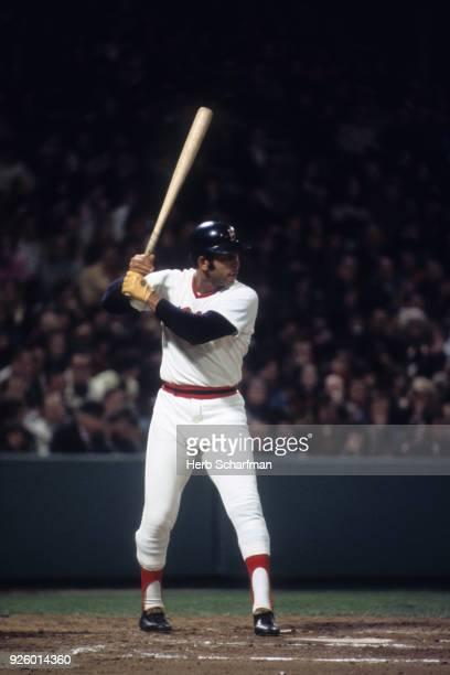 Boston Red Sox Orlando Cepeda in action at bat vs Minnesota Twins at Fenway Park Boston MA CREDIT Herb Scharfman