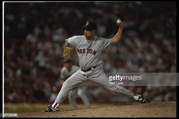 Boston Red Sox Tony Fossas in action alone.