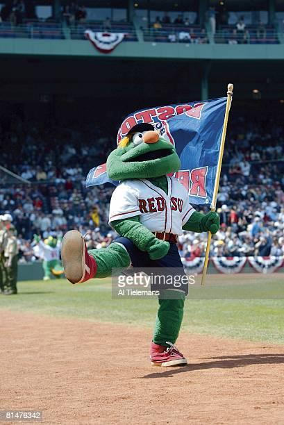 Baseball Boston Red Sox Wally the Green Monster mascot during game vs New York Yankees Boston MA 4/17/2004
