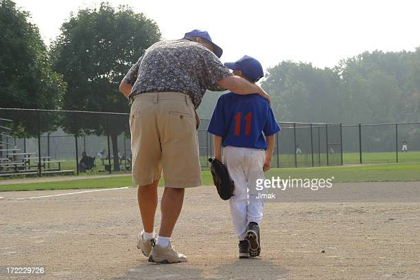 Baseball Boy and Dad