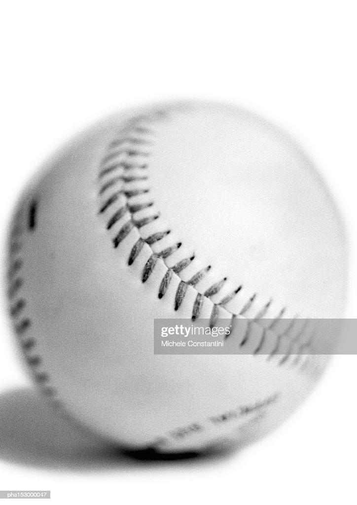 Baseball, b&w. : Stockfoto