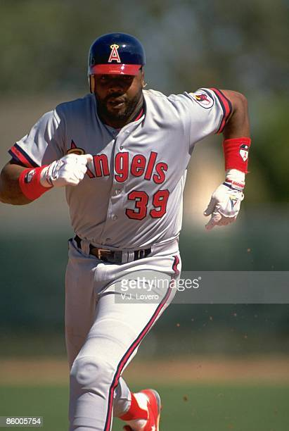California Angels Dave Parker in action running bases during spring training Phoenix AZ 3/12/1991 CREDIT VJ Lovero