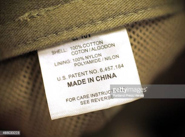 A baseball cap sold by an American relailer has a 'Made in China' label inside Thursday July 25 2013