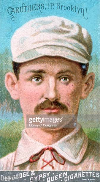 Baseball card depicting Zack 'Parisian Bob' Caruthers The card advertises Old Judge and Gypsy Queen Cigarettes