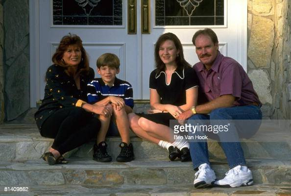 casual portrait of new york yankees wade boggs at home