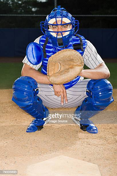 baseball catcher - baseball catcher stock photos and pictures