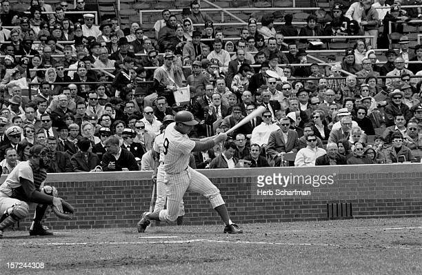 Chicago Cubs Glenn Beckert in action at bat vs Los Angeles Dodgers vs Wrigley Field Chicago IL CREDIT Herb Scharfman