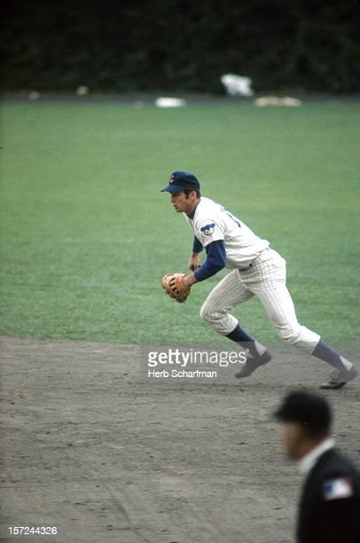 Chicago Cubs Glenn Beckert in action fielding vs Houston Astros at Wrigley Field Chicago IL CREDIT Herb Scharfman