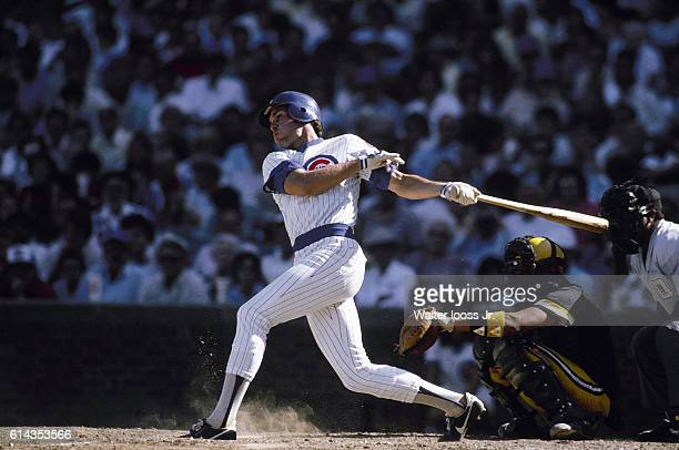 Chicago Cubs Ryne Sandberg in action at bat vs Pittsburgh Pirates at Wrigley Field Chicago IL CREDIT Walter Iooss Jr