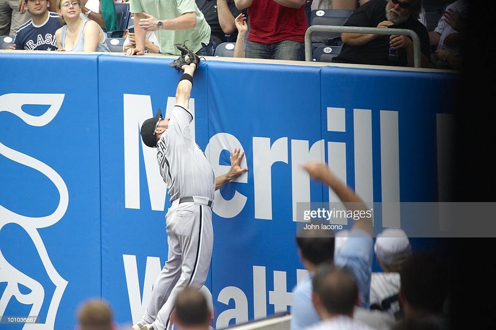Chicago White Sox Mark Kotsay (7) in action, fielding vs New York Yankees. Bronx, NY 5/2/2010