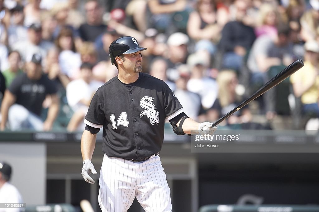 Chicago White Sox Paul Konerko (14) during at bat vs Florida Marlins. Chicago, IL 5/22/2010