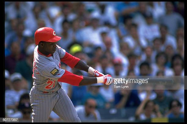 Cin Reds Tony Fernandez in action alone AB