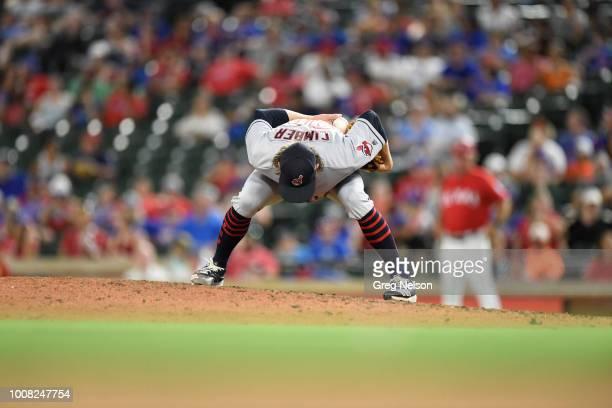 Cleveland Indians Adam Cimber during game vs Texas Rangers at Globe Life Park in Arlington Arlington TX CREDIT Greg Nelson