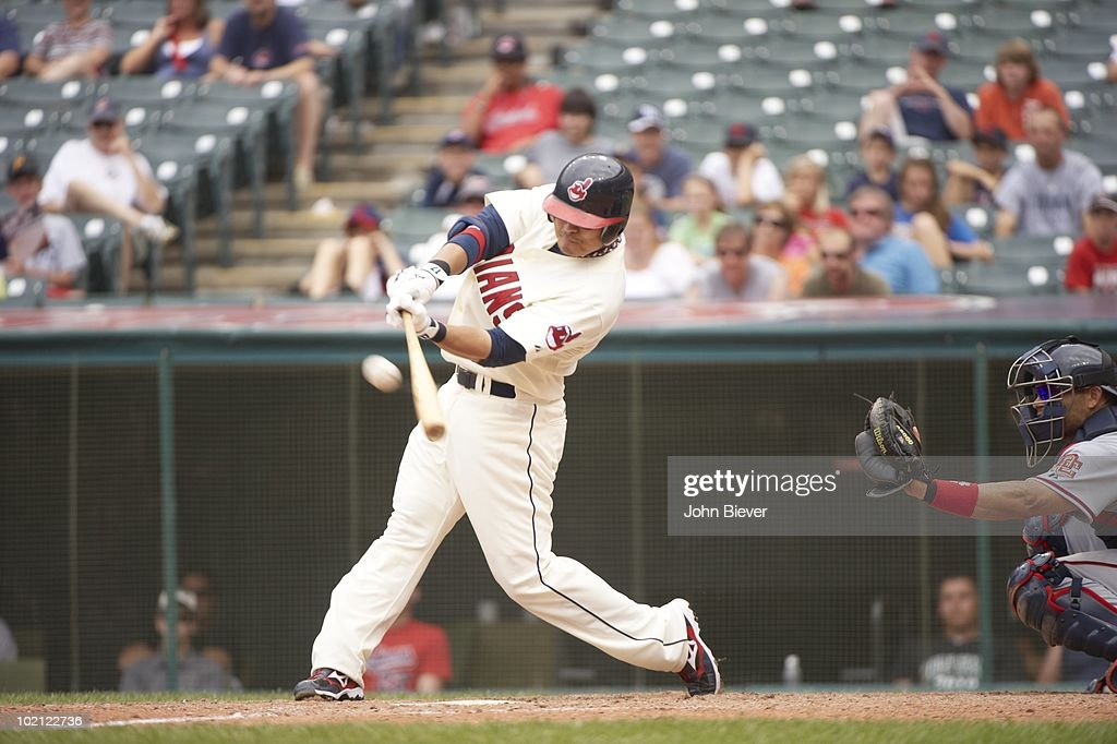Cleveland Indians Shin-Soo Choo (17) in action, at bat vs Washington Nationals. Cleveland, OH 6/13/2010