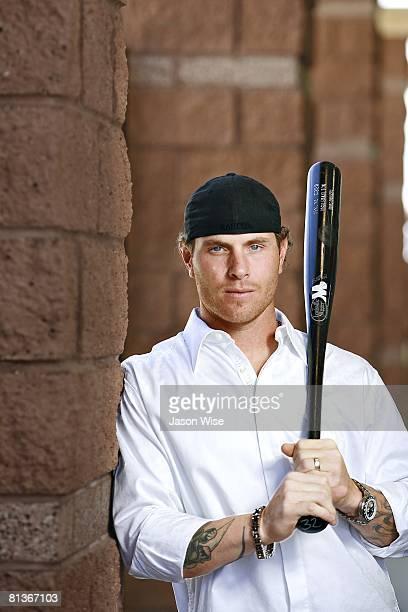 Baseball Closeup casual portrait of Texas Rangers Josh Hamilton during spring training at Surprise Stadium Surprise AZ 3/16/2008