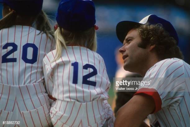 Closeup of Atlanta Braves Andy Messersmith before game vs New York Mets at Atlanta Fulton County Stadium Atlanta GA CREDIT Walter Iooss Jr
