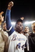 Baseball closeup of atlanta braves hank aaron victorious with 715th picture id452279292?s=170x170