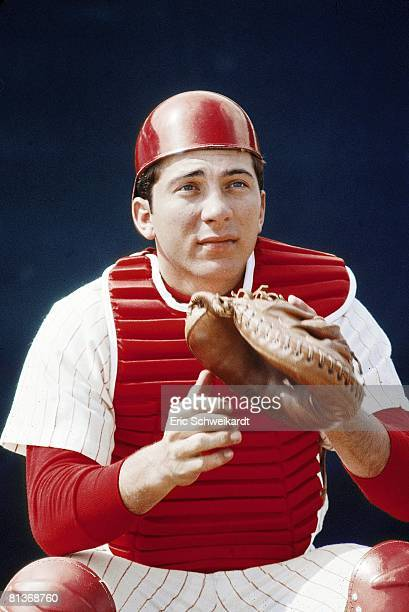 Baseball Closeup portrait of Cincinnati Reds Johnny Bench during spring training FL 3/3/1968